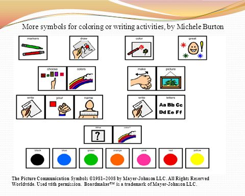 More symbols for coloring or writing activities, by Michele Burton