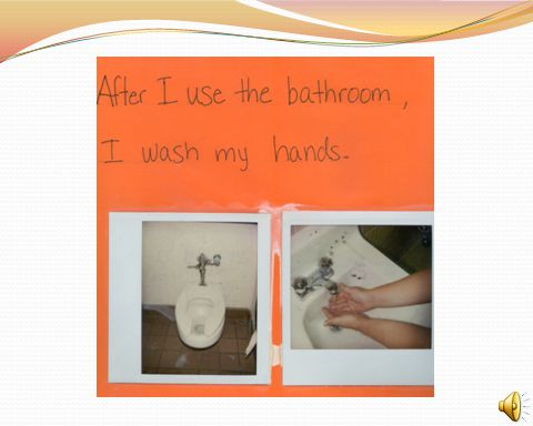 This sequence can be used to remind students the steps to follow in the bathroom.