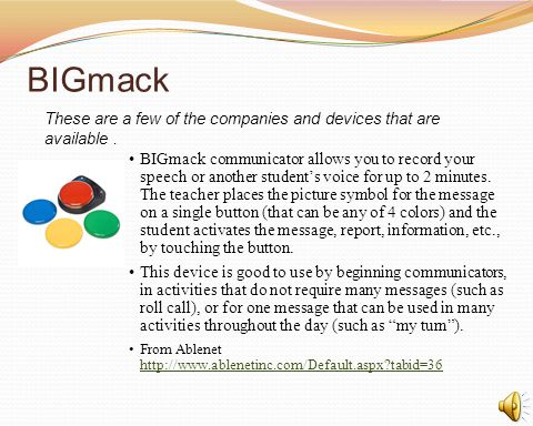 BIGmack These are a few of the companies and devices that are available .