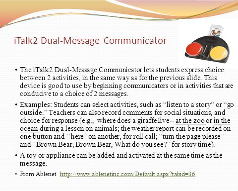 iTalk2 Dual-Message Communicator
