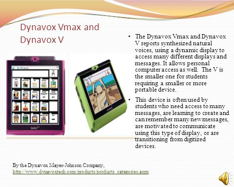 Dynavox Vmax and Dynavox V