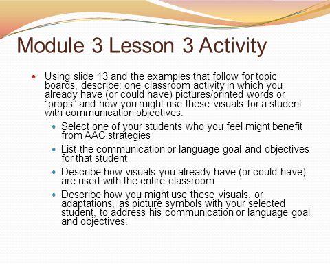 Module 3 Lesson 3 Activity