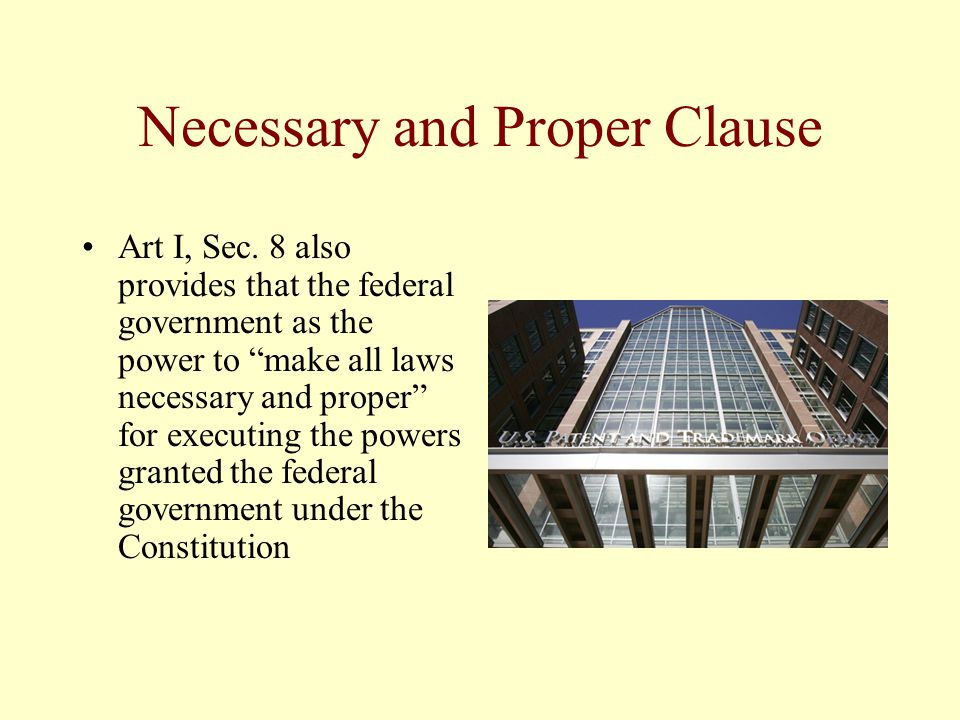 Necessary and Proper Clause