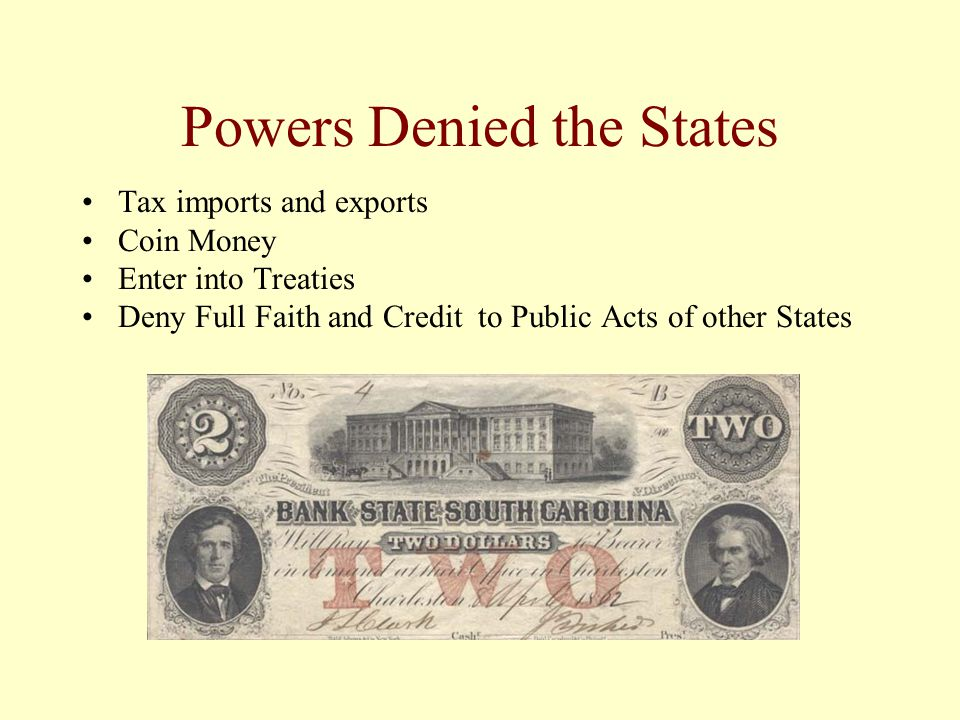Powers Denied the States