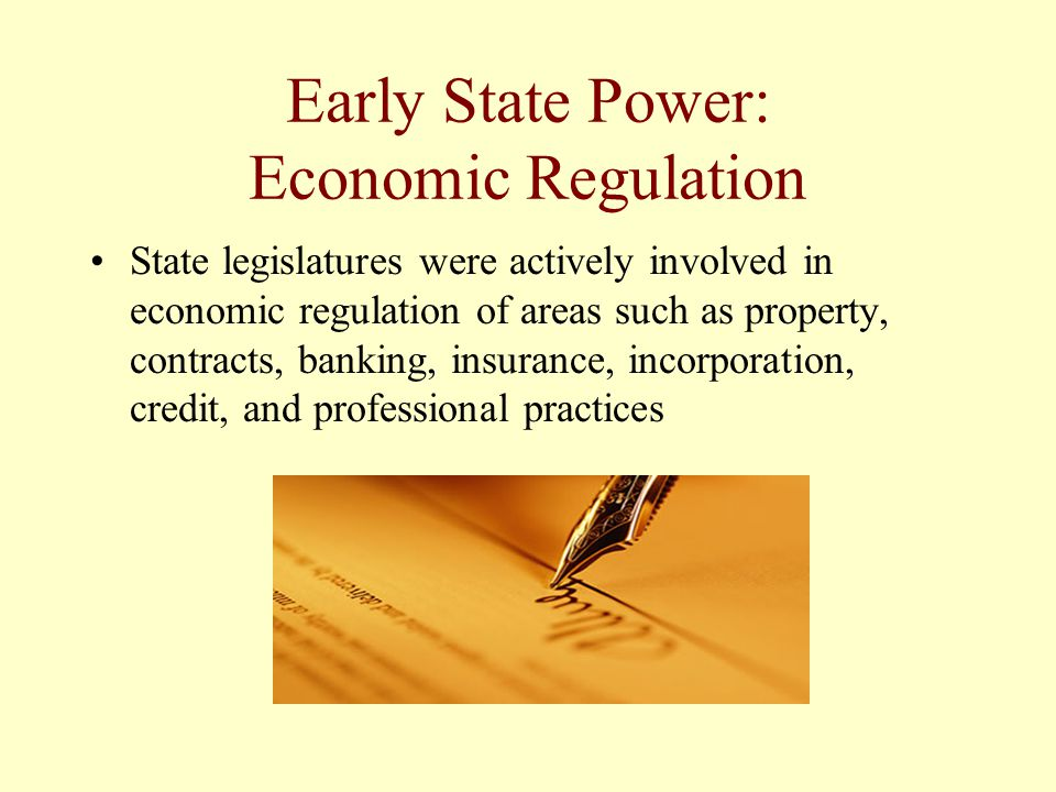 Early State Power: Economic Regulation