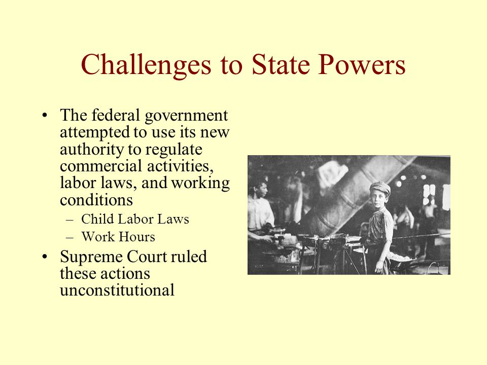 Challenges to State Powers