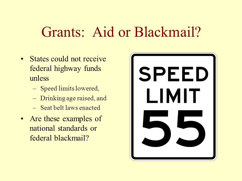 Grants: Aid or Blackmail