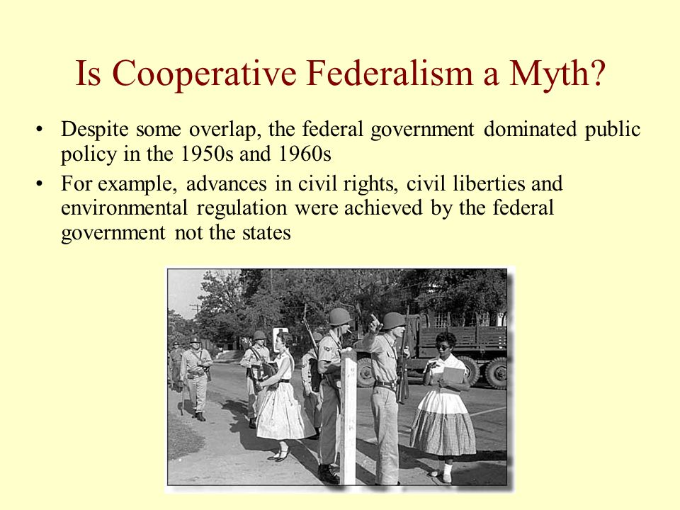 Is Cooperative Federalism a Myth