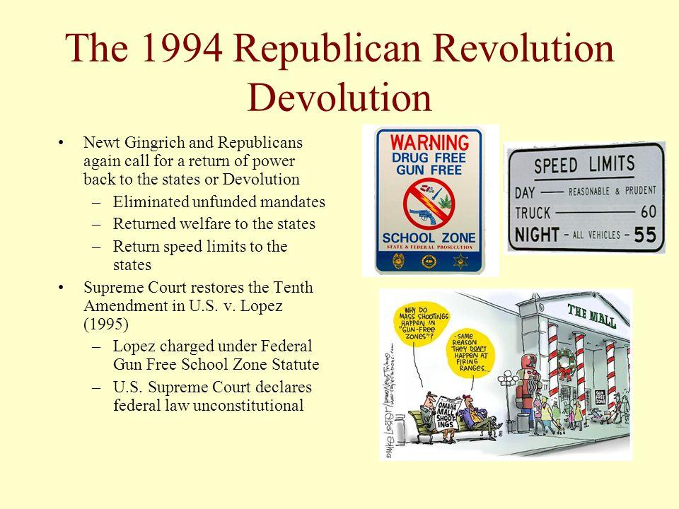 The 1994 Republican Revolution Devolution