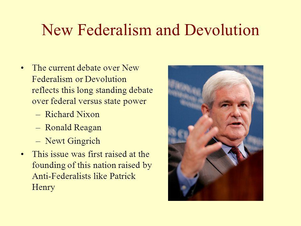New Federalism and Devolution