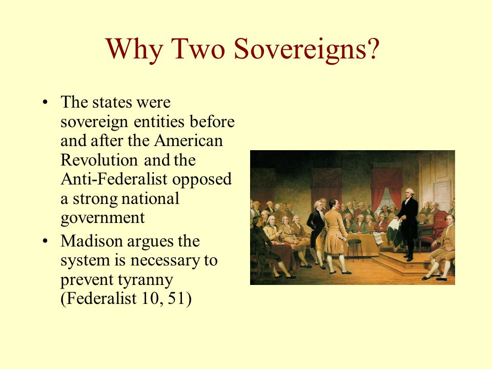 Why Two Sovereigns