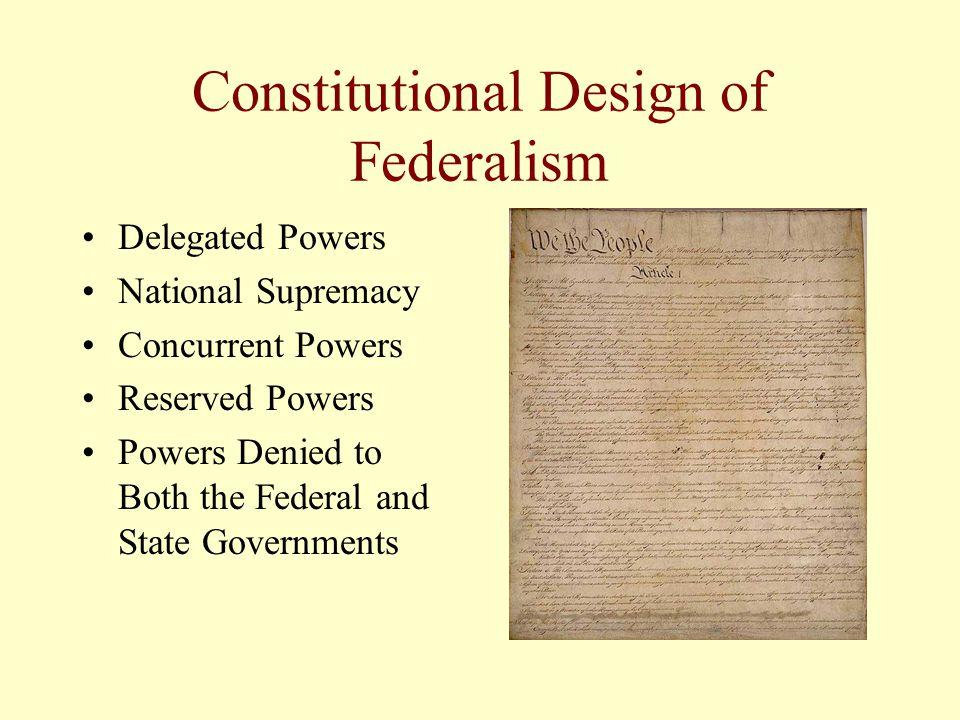 Constitutional Design of Federalism