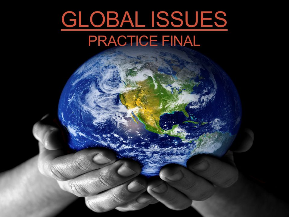 Global Issues Practice Final