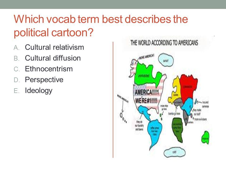 Which vocab term best describes the political cartoon