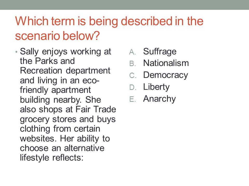 Which term is being described in the scenario below