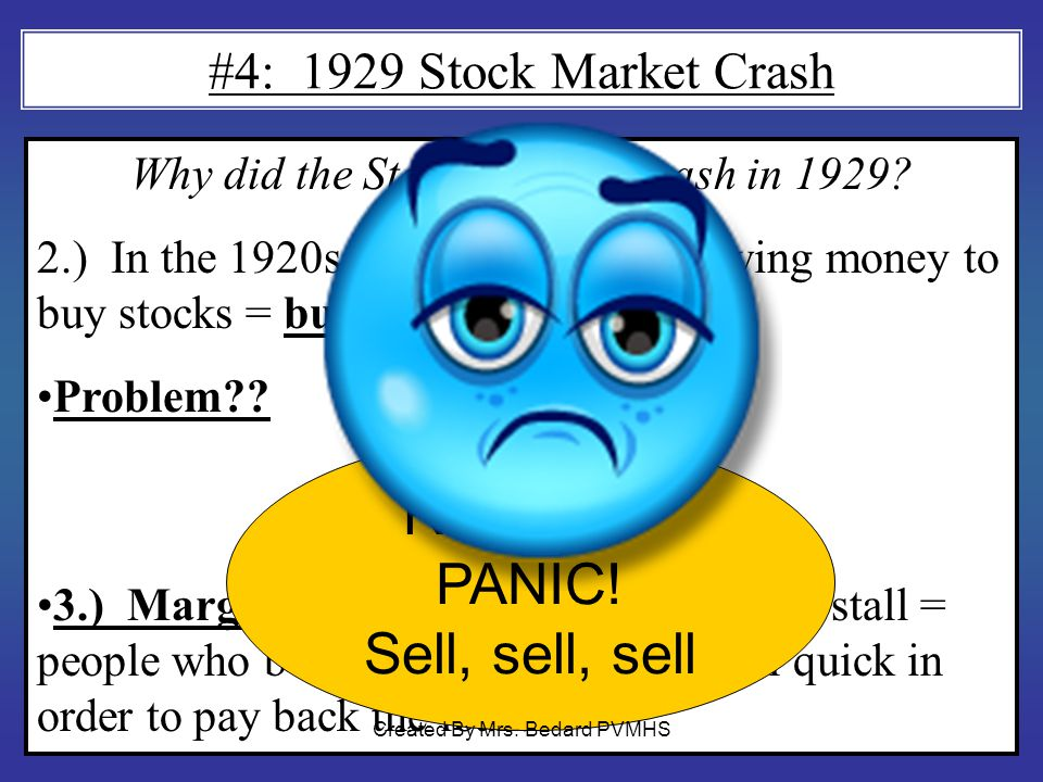 RESULT= PANIC! Sell, sell, sell #4: 1929 Stock Market Crash
