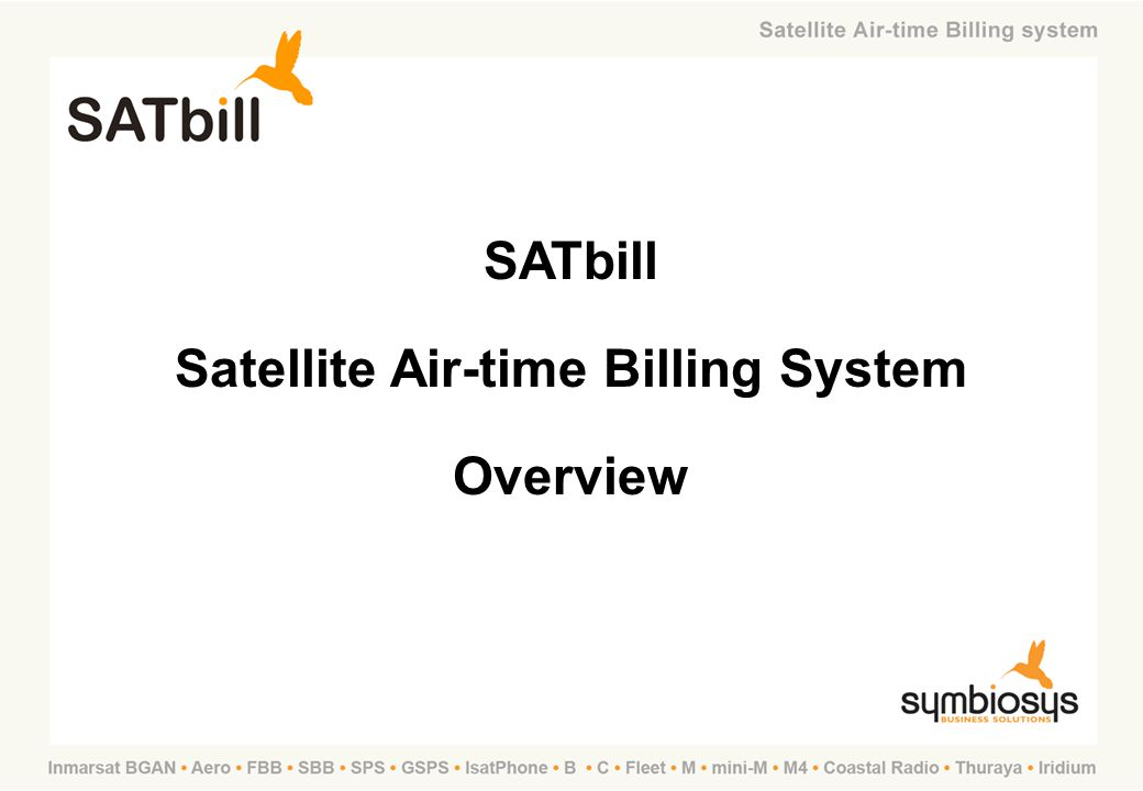 Satellite Air-time Billing System