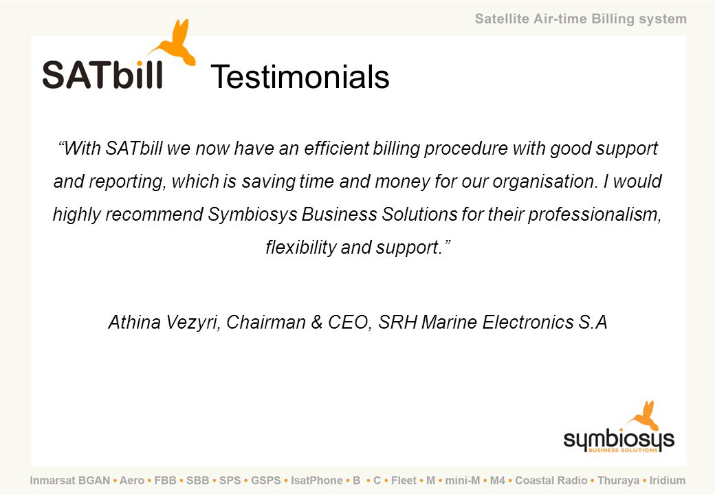 Athina Vezyri, Chairman & CEO, SRH Marine Electronics S.A