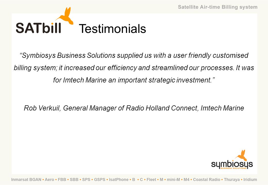 Rob Verkuil, General Manager of Radio Holland Connect, Imtech Marine