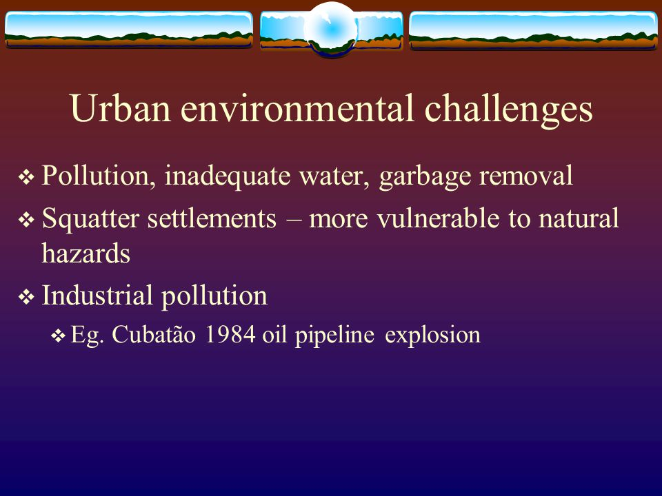 Urban environmental challenges