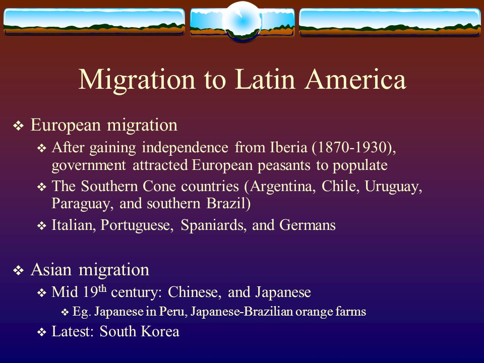 Migration to Latin America