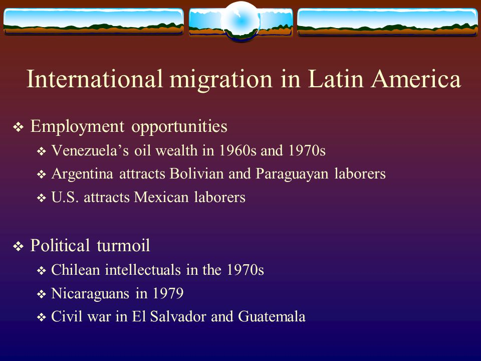 International migration in Latin America