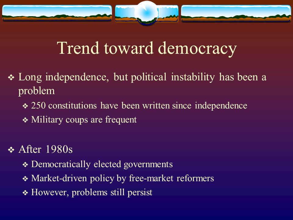 Trend toward democracy