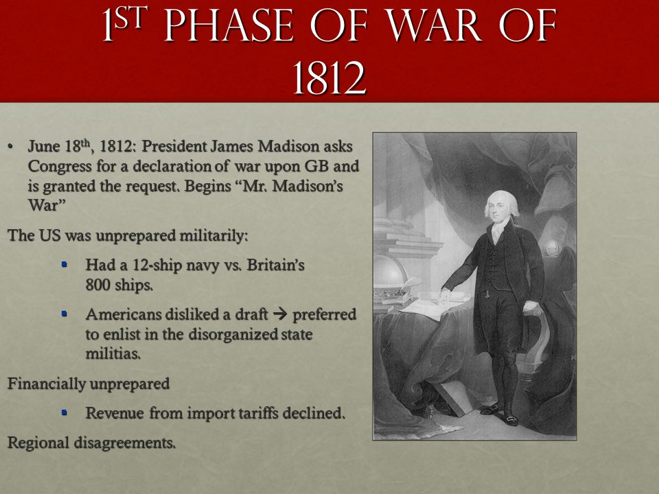 1st PHASE OF WAR OF 1812