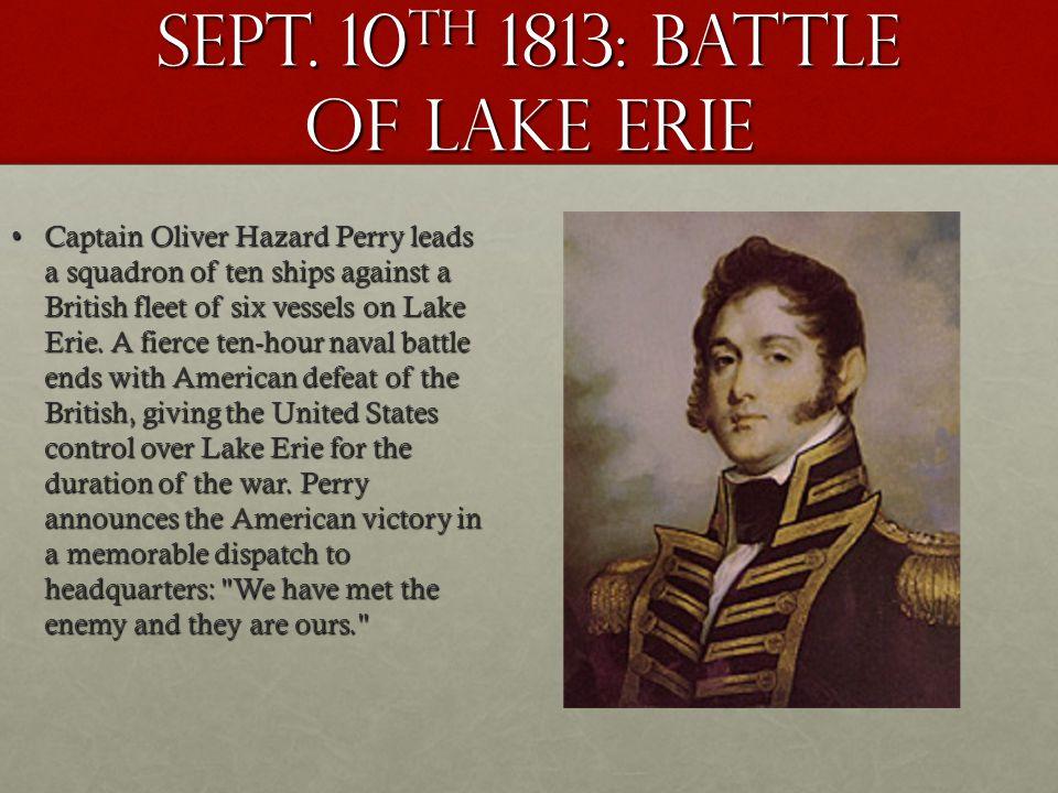 Sept. 10th 1813: battle of lake erie