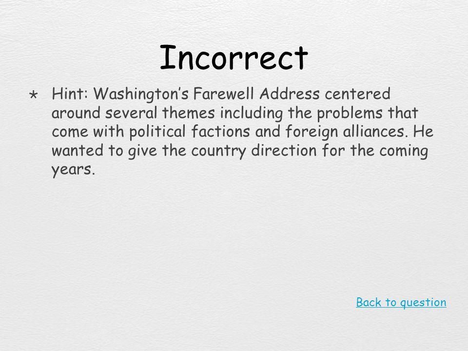 Incorrect