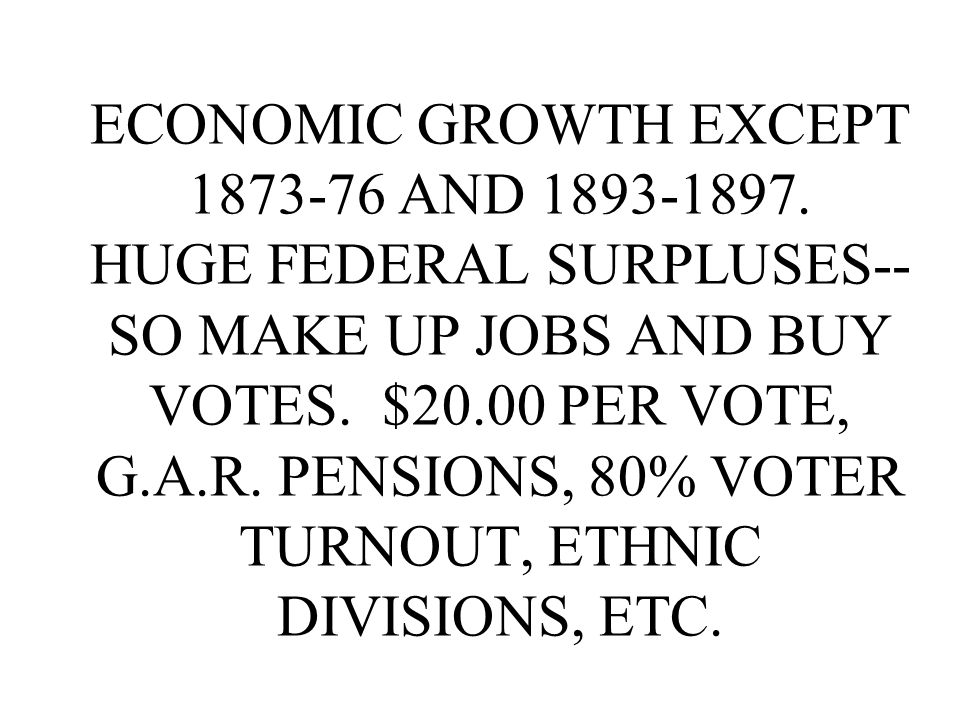 ECONOMIC GROWTH EXCEPT AND