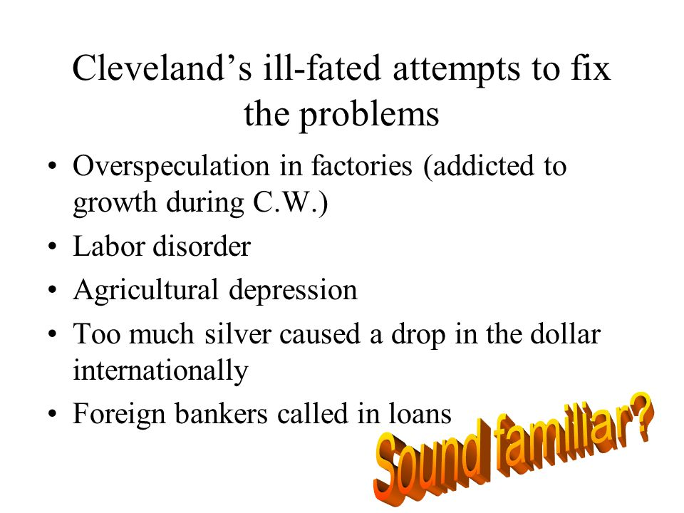 Cleveland's ill-fated attempts to fix the problems