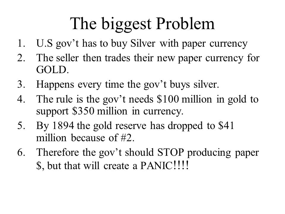 The biggest Problem U.S gov't has to buy Silver with paper currency