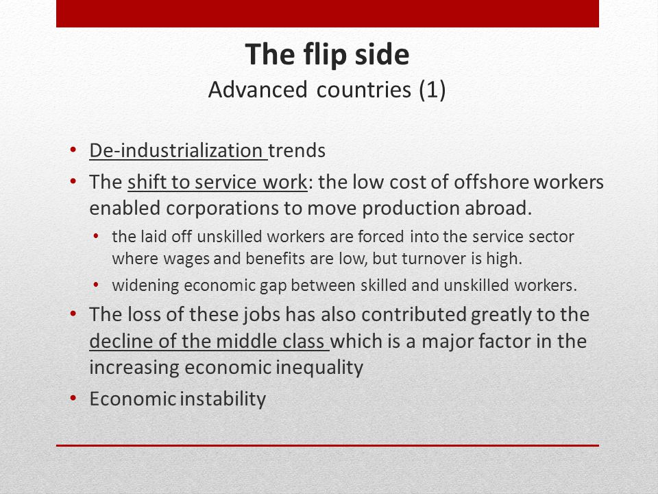 The flip side Advanced countries (1)