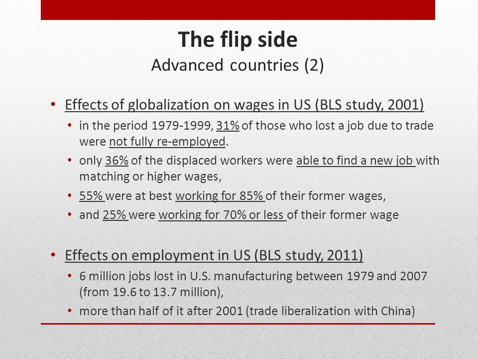 The flip side Advanced countries (2)