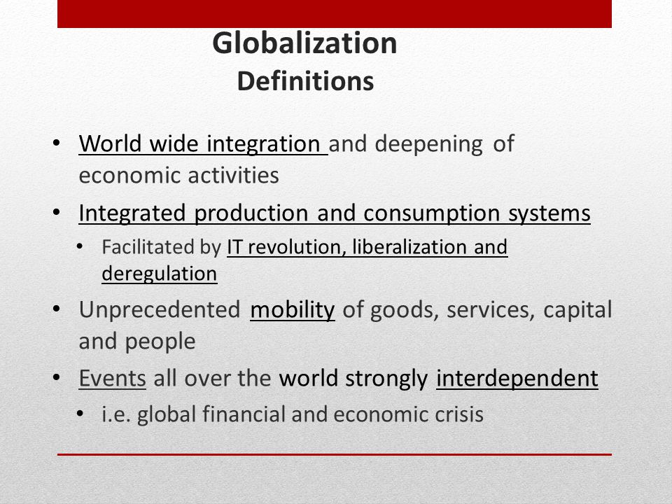 Globalization Definitions