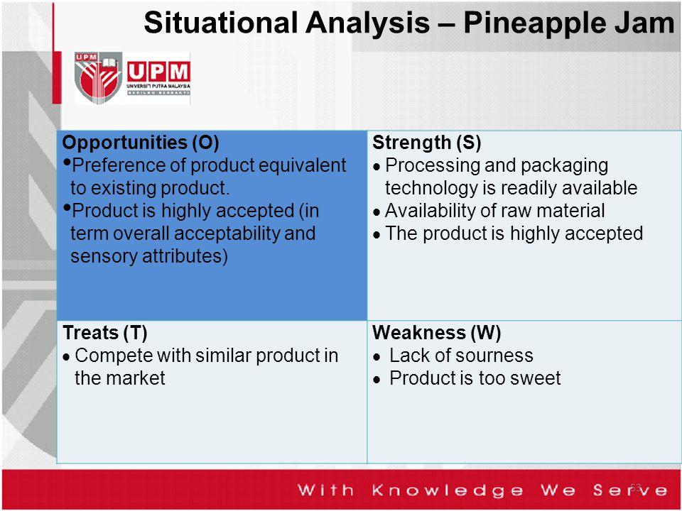 Situational Analysis – Pineapple Jam