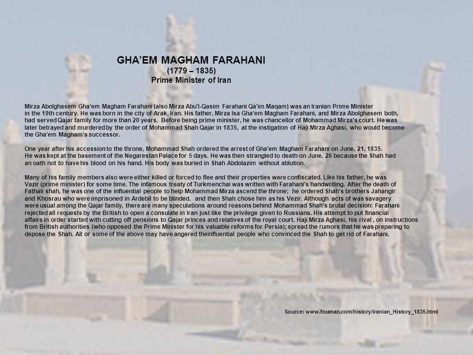 GHA'EM MAGHAM FARAHANI