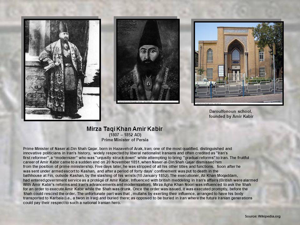 Mirza Taqi Khan Amir Kabir Prime Minister of Persia
