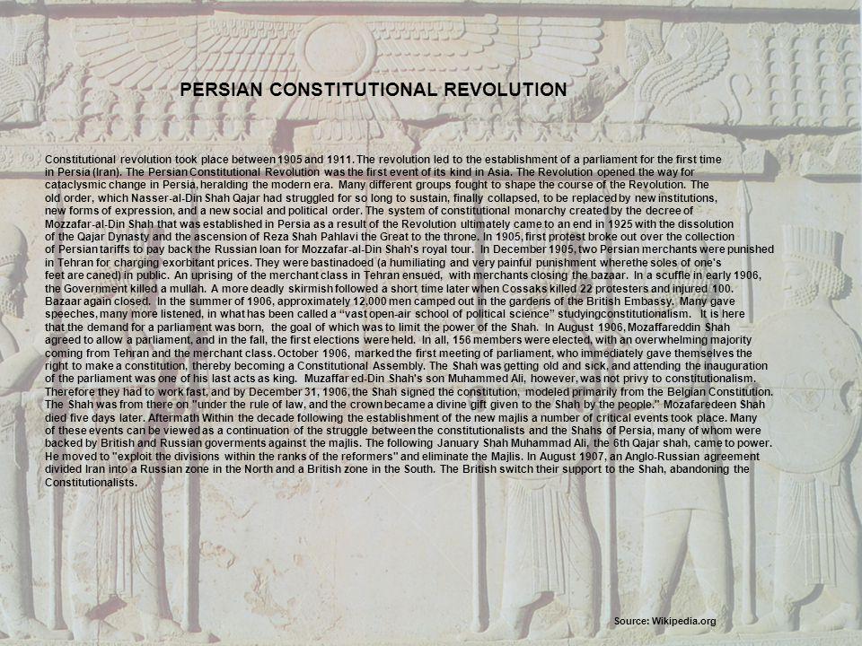 PERSIAN CONSTITUTIONAL REVOLUTION
