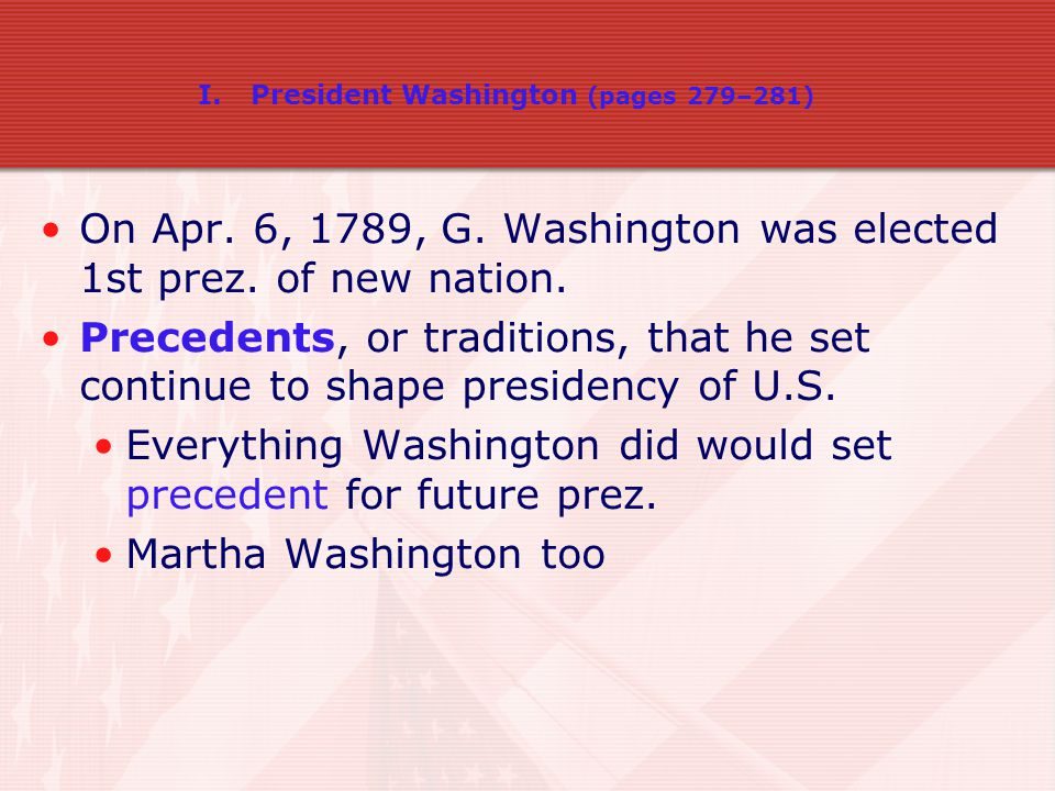 On Apr. 6, 1789, G. Washington was elected 1st prez. of new nation.