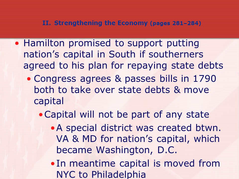 Capital will not be part of any state