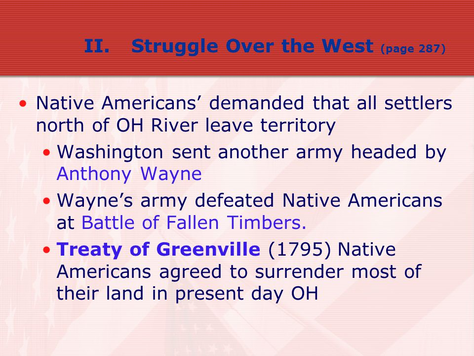 II. Struggle Over the West (page 287)