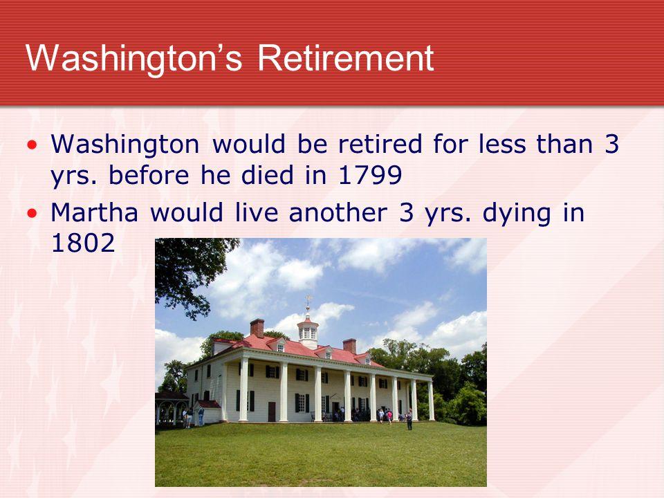 Washington's Retirement