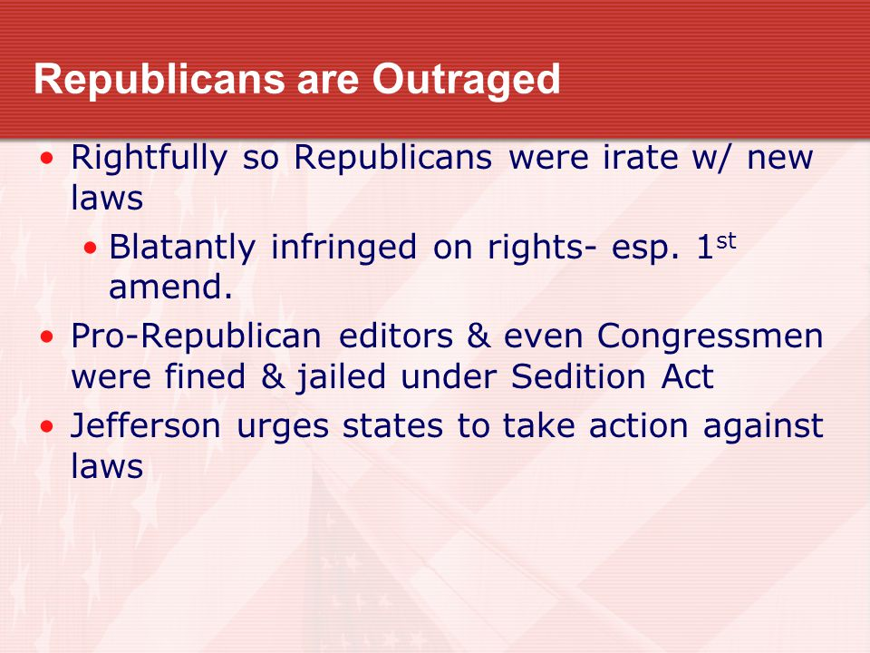Republicans are Outraged