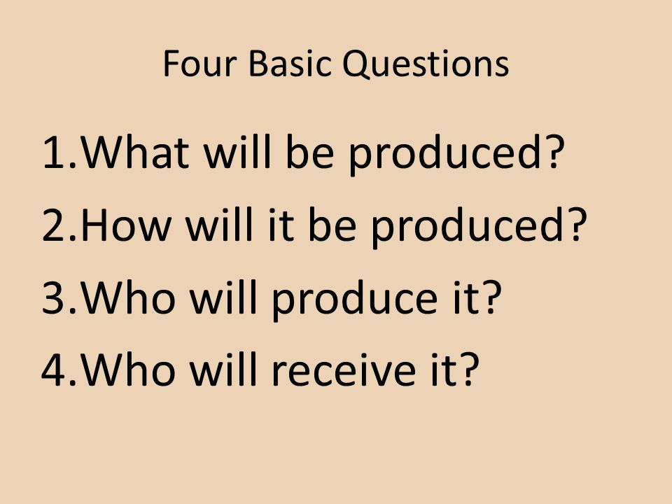 What will be produced How will it be produced Who will produce it