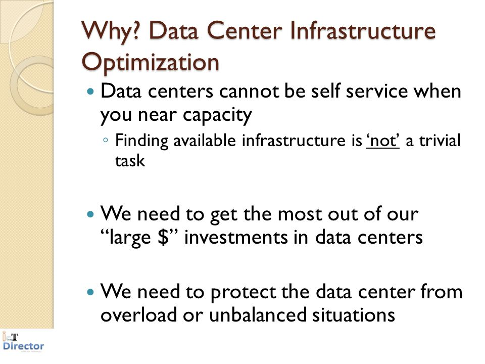 Why Data Center Infrastructure Optimization