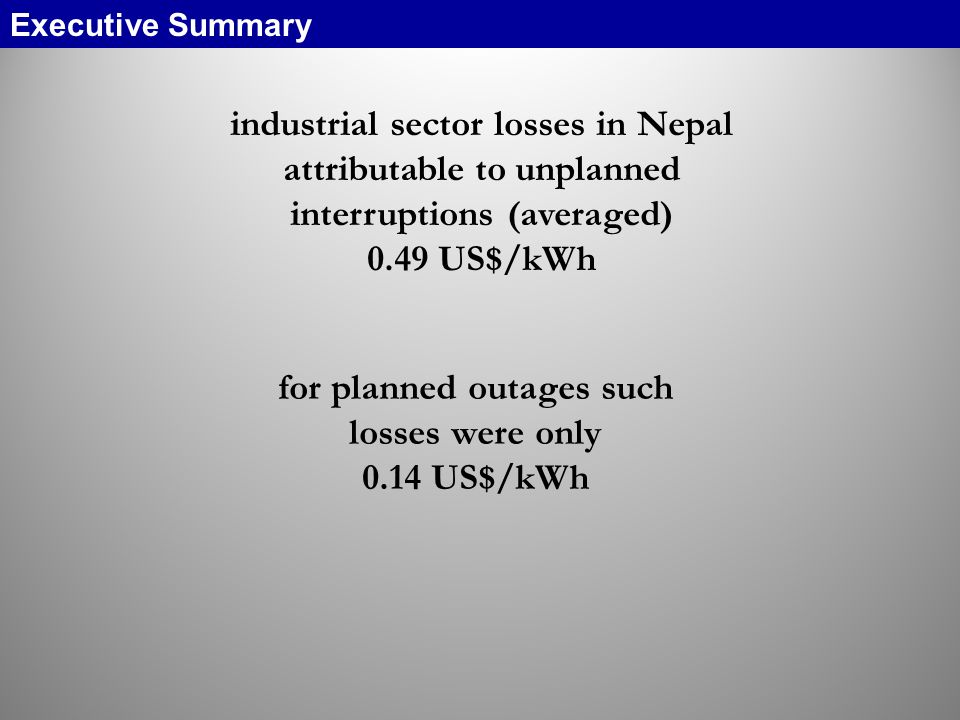 for planned outages such losses were only