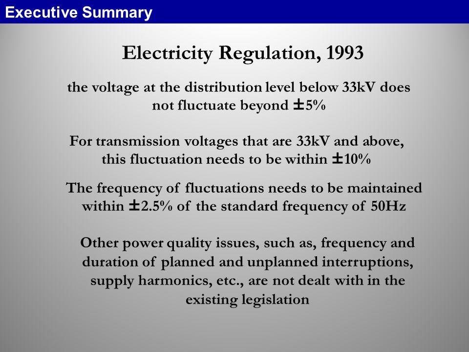 Electricity Regulation, 1993