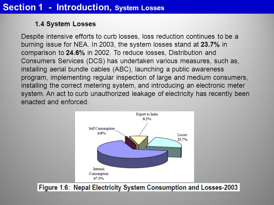 Section 1 - Introduction, System Losses